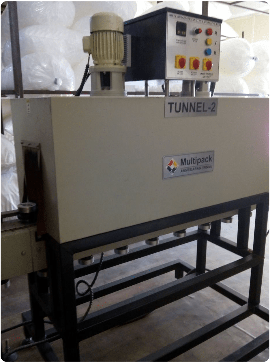 DOUBLE TUNNEL SHRINK SLEEVING MACHINE